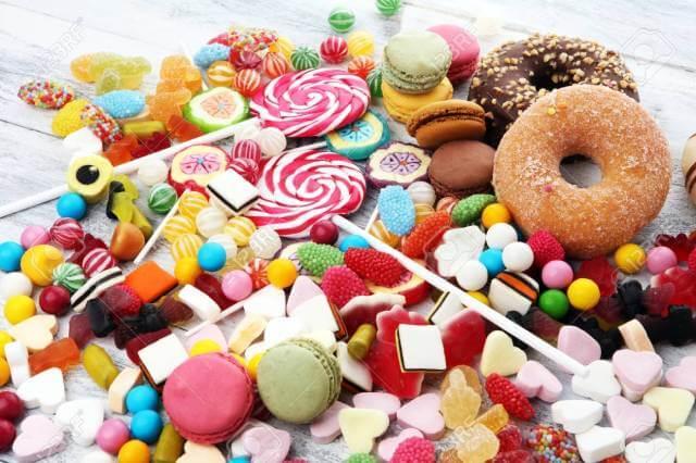 مواد غذایی رنگی ، قند و شیرینی | شرکت نخ دندان مینا